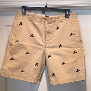 J Crew embroidered shorts